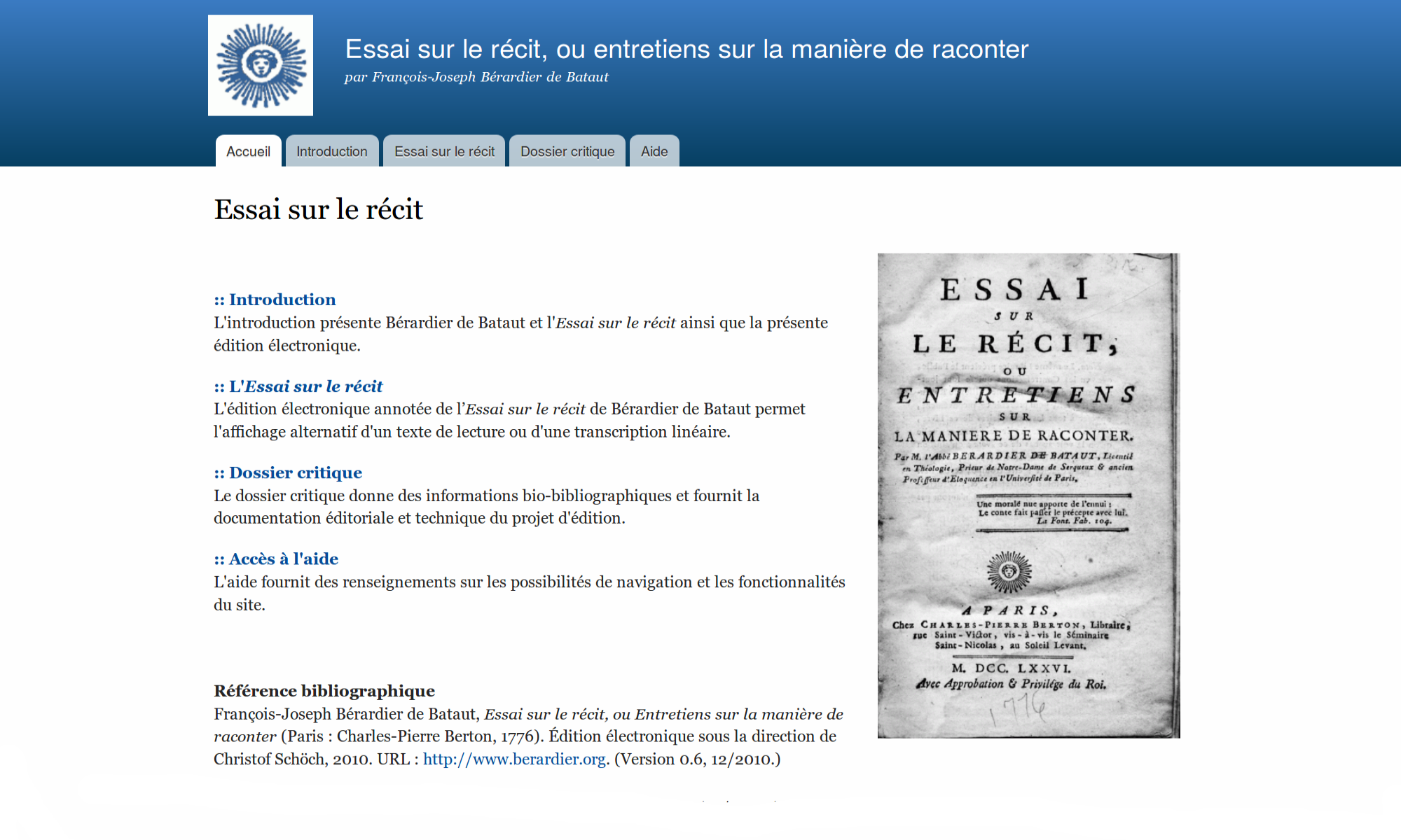 Screenshot of berardier.org
